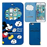 iPhone8 iPhone7 ケース 手帳型 ディズニー 窓付き キャラクター カード収納 / ミッキーマウス