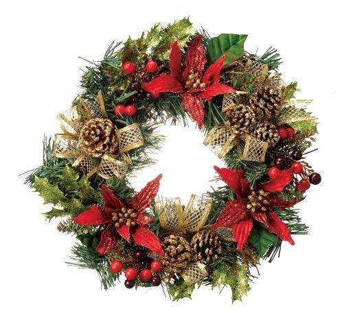 [해외]에무사부 Xmas 크리스마스리스 그린 직경 30cm 조화 장식 솔방울 장식에 선물/M Sab Xmas Christmas lease Green Diameter 30 cm Artificial flower decoration Pine cone gift to decoration