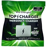 Pop充電器pre-charged使い捨て緊急充電器Android、2パック