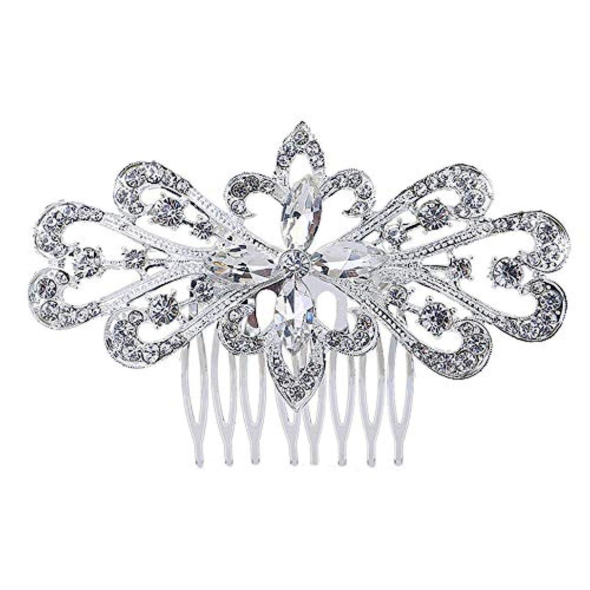 アルファベット審判具体的に髪の櫛の櫛の櫛の花嫁の髪の櫛の花の髪の櫛のラインストーンの挿入物の櫛の合金の帽子の結婚式のアクセサリー