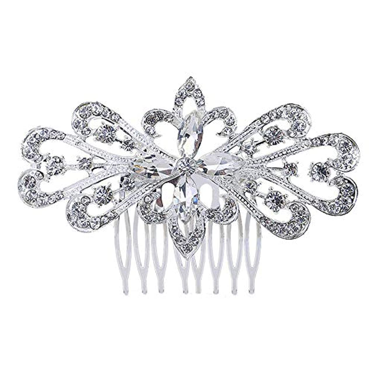 蓋永久に労働者髪の櫛の櫛の櫛の花嫁の髪の櫛の花の髪の櫛のラインストーンの挿入物の櫛の合金の帽子の結婚式のアクセサリー