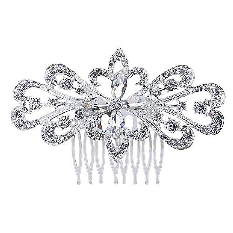 髪の櫛の櫛の櫛の花嫁の髪の櫛の花の髪の櫛のラインストーンの挿入物の櫛の合金の帽子の結婚式のアクセサリー