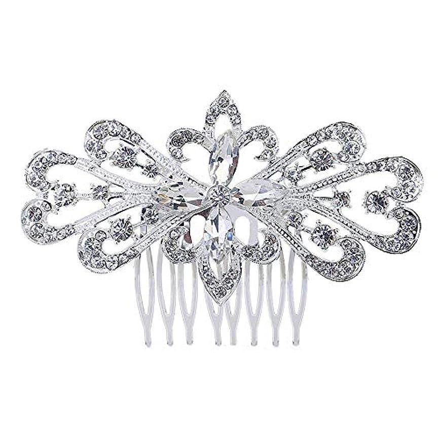 耐えられないエミュレーション役職髪の櫛の櫛の櫛の花嫁の髪の櫛の花の髪の櫛のラインストーンの挿入物の櫛の合金の帽子の結婚式のアクセサリー