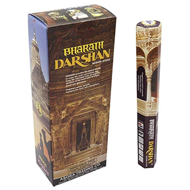 逃げる世論調査政令Bharat Darshan 6 pkt of 18 Sticks Each (Contains 108 Incense Sticks/Natural Agarbatti) with Free Wooden Incense...