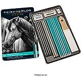 Prismacolor Premier Graphite Drawing Pencils with Erasers & Sharpeners, 18-Piece Set