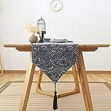 格子 テーブルランナー ホームデコレーション 日本式スタイル 工芸品 おしゃれ 結婚式 パーティー エレガント モダン シンプル (Color : C, Size : 31*180cm)