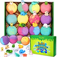 Bath Bombs for Kids with Toys Inside for Girls Boys - 12 Surprise Gift Set, Bubble Bath Fizzies Vegan Essentia