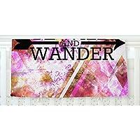 KESS InHouse Ebi Emporium Be Wild and Wander Pink Fleece Baby Blanket 40 x 30 [並行輸入品]