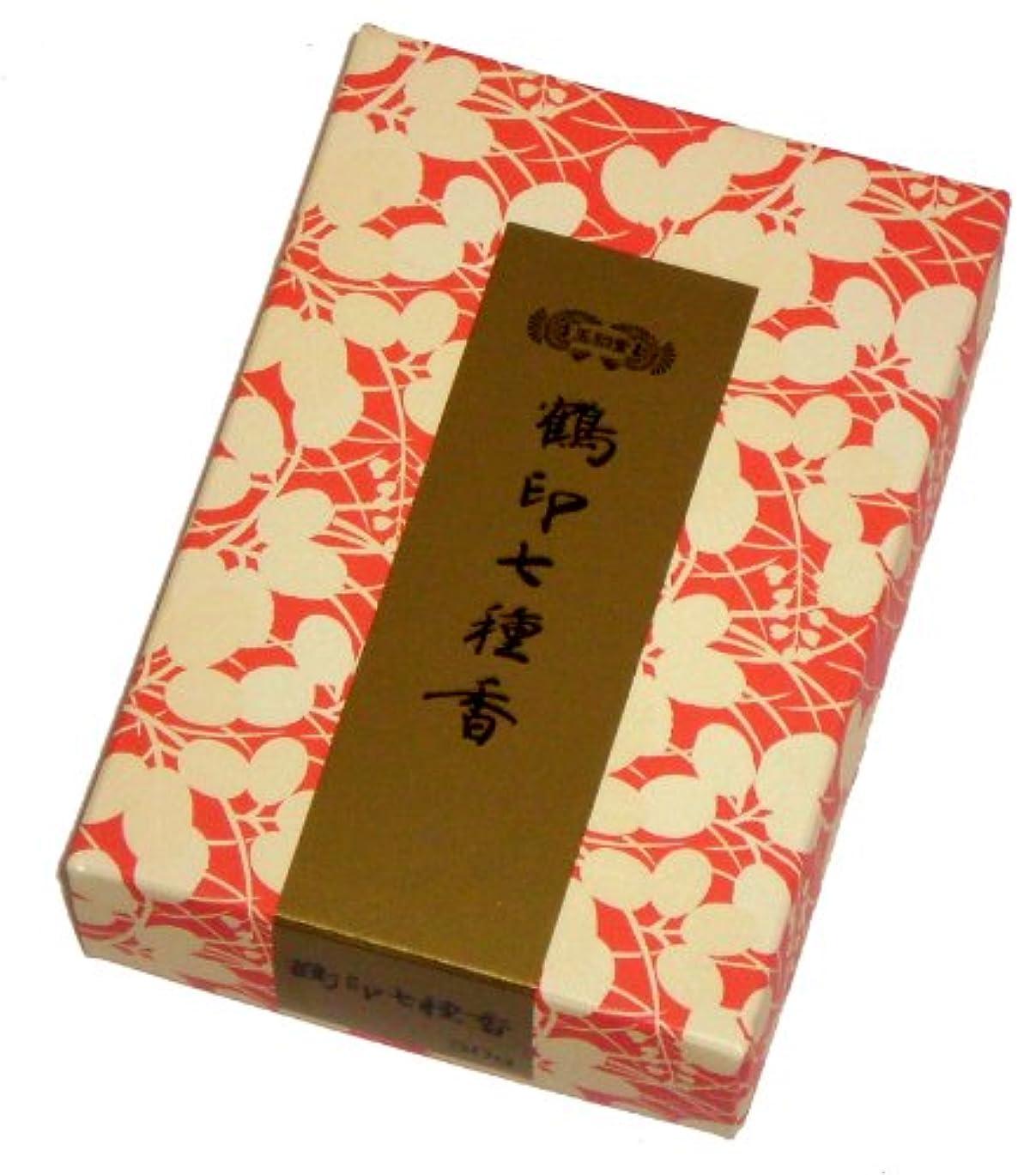 到着プラスチック財産玉初堂のお香 鶴印七種香 30g #675