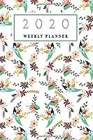 2020 Weekly Planner: 2020 weekly Floral Pattern planner | Jan 1, 2020 to Dec 31, 2020 | Weekly Organizer / Diary