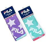 フィラ FILA(フィラ) アクティブロングタオル 22×90cm パステルカラー 【2枚セット】 高吸水性 毛羽落ちが少ないフルフィーコットン使用 スポーツ・アウトドアに最適