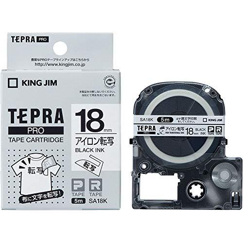 キングジム テプラ PROテープ アイロン転写 18mm 白ラベル(黒文字) 1個