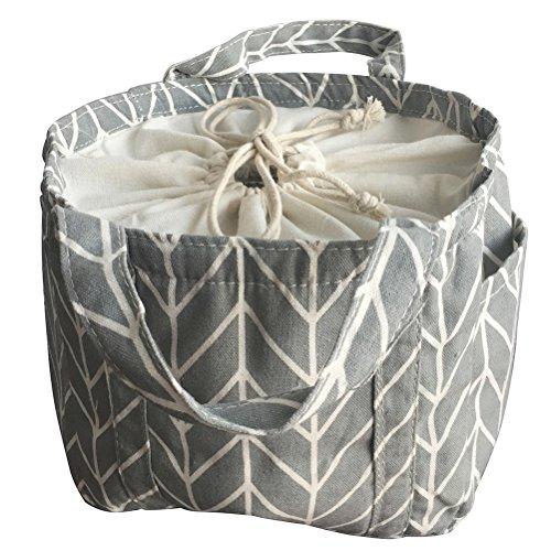 VANCORE ランチバッグ おしゃれ 保温 保冷剤ポケット付き 通勤族用 超かわいい 手提げ弁当袋 グリーン