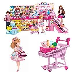 リカちゃん セルフレジでピッ!おおきなショッピングモール&わくわくショッピングドール&おかいものショッピングカートセット