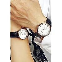 Genericクラシックシンプルさ純正Couple WatchesレディースガールズLady学生韓国ファッショントレンドレジャー美しい防水レザーベルトshi ying Watch