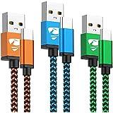 USB Type Cケーブル 3本セット Aioneus タイプC 充電ケーブル 1.8m タイプC 充電器 Android ケーブル 3A急速充電 Samsung Galaxy S20 S10 S9 S8 A50 A51 P30 P20 Xperi