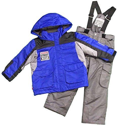 [해외]키즈 스키웨어 [VISION STREET WEAR] 심플한 디자인 | 크기 조정 기능 탑재 스키웨어 상하 세트 | 스키웨어 | 내수압 2~000mm | 남자 | 소년 | 어린 이용 100cm 110cm 120cm/Kids ski wear [VISION STREET WEAR] simple design | Ski wear upper and...
