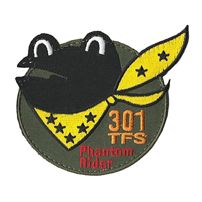 余剰再集計カメラ自衛隊グッズ ワッペン 百里基地 第301飛行隊 Fhantom Rider パッチ ベルクロ付
