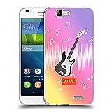 オフィシャル Emoji ギター ミュージック ソフトジェルケース Huawei Ascend G7