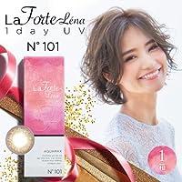 LaFORTE Lena 1day UV (ラフォルテ レナ ワンデーUV) 30枚入 1箱 【カラー】:No.101 ヌーディブラウン secret gold 【DIA(直径)】:14.2mm 【BC(ベースカーブ)】:8.7 【PWR(度数)】:-3.00