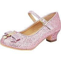Cambridge Select Girls' Closed Toe Glitter Crystal Rhinestone Bow Low Kitten Heel Mary Jane Pump (Toddler/Little Kid/Big Kid)