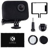 ウインドスレイヤーとフレームマウントGoPro カメラ用 - 適切な音声記録のために風音を減らす- GoPro HERO4、HERO3+、 HERO3用 - UV フィルターレンズプロテクター、レンズキャップ、クリーニングクロス