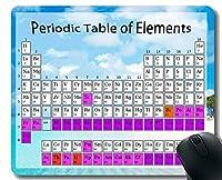 教室のマウスパッドの滑り止め、ステッチされた端が付いている海洋浜の熱帯テーマのマウスパッドのための元素の化学チャートの周期表