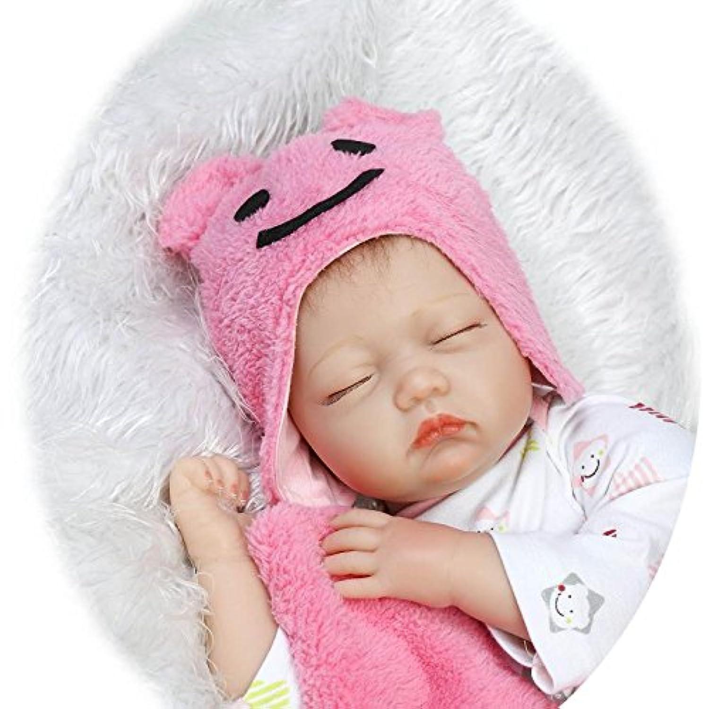 Lifelikeリアルな赤ちゃん人形、22インチRebornベビー人形シリコンviniy女の子ベビーギフト、for Ages 3 +