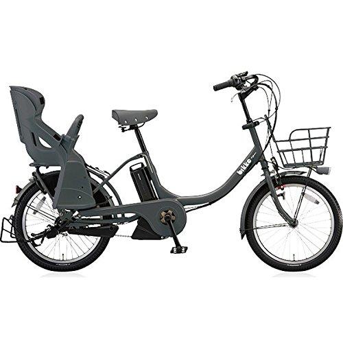 BRIDGESTONE(ブリヂストン) bikke MOB e 子ども乗せ電動アシスト自転車 12.3Ah 2017年モデル BM0C37 E.XBKダークグレー
