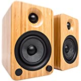 Kanto YU4 Powered Bookshelf Speakers with Bluetooth® and Phono Preamp (Bamboo)