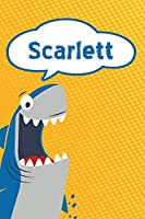 "Scarlett: Great White Shark Blank Comic Book Notebook Journal book 120 pages 6""x9"""