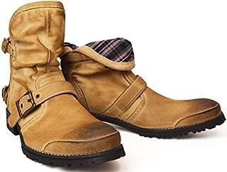 (ジーノ)ZEENO 折り返し 2WAY エンジニアブーツ ショートブーツ ドレープ ブーツ シューズ 靴 メンズ