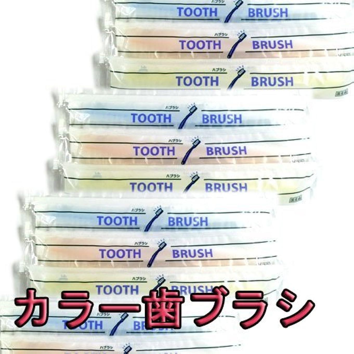 刈るテロ平らな使い捨て(インスタント) 粉付き歯ブラシ(10本組)(旅行用?お客様用に) 増量中 日本製