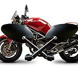 SANCTUS オーバルミラー 防眩ブルーミラー ビレットミラータイプ 左右1セット アルミ削りだし 欧州バイク ヨーロッパバイク monster696 Ducati BMW Triumph 等へ