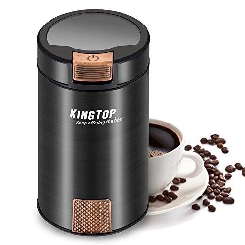 コーヒーミル 電動式 コーヒーグラインダー KINGTOP 豆...
