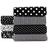 Black Series Floral Cotton Fabric Textile Quilting Patchwork Fabric Fat Quarter Bundles Fabric For Scrapbooking Cloth Sewing