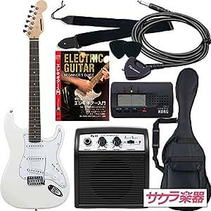 SELDER セルダー エレキギター ストラトキャスタータイプ サクラ楽器オリジナル ST-16/WH 初心者入門リミテッドセット