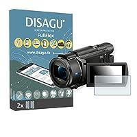 2 x Disagu FullFlex Sony FDR-AX53対応 汚れ防止画面プロテクター(ディスプレイの曲面にもきれいにフィットします)