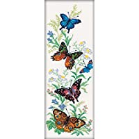 RTO 14 Count Flying Butterflies Counted Cross Stitch Kit 6.25 by 17.75-Inch [並行輸入品]