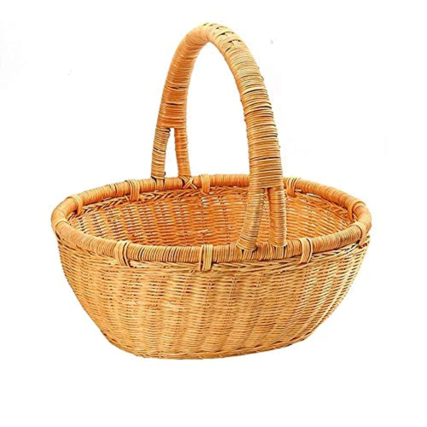 カバレッジ露骨なばかげているハニーウィッカーガーデンフラワードラッグ野菜バスケットサイズ選択(小)36x30x37cm