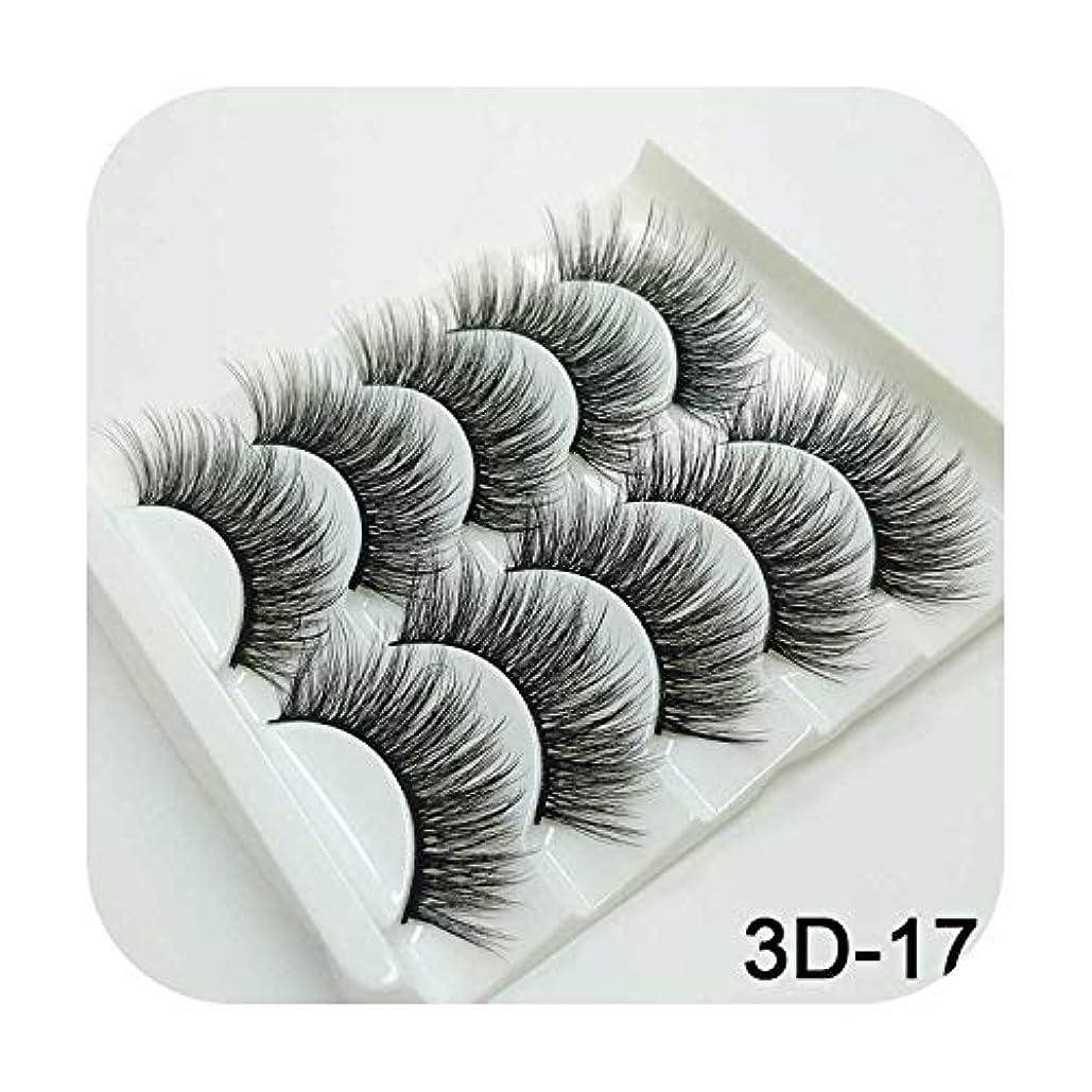 悪性腫瘍揮発性民兵3Dミンクまつげナチュラルつけまつげロングまつげエクステンション5ペアフェイクフェイクラッシュ,3D-17