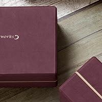ヨガワークス (Yogaworks) ヨガブロックB 2個セット YW-E422-C008 バーガンディ