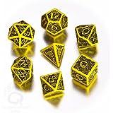 CELTIC 3D Dice Box Yellow & black (ケルト3Dダイスボックス7種 イエロー&ブラック)