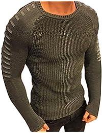 DAISUKI ニット セーター メンズ トップス おしゃれ トレーナー 丸首 上品 綿素材 アウトドア かっこいい 紳士風 ファッション 長袖トップス