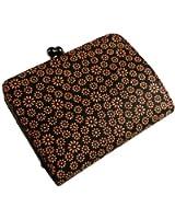 [古都印伝] 日本製 本革 がま口 二つ折り財布 ボックス小銭入れ デイジー ひな菊 和柄 印伝 漆