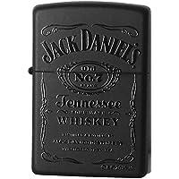 Zippo Windproof Black Matte Lighter With Black Jack Daniels ブラックマットジャックダニエル [並行輸入品]