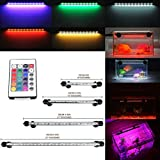 GreenSun 18CM Aquarium Light RGB Remote Colour Changing LED Fish Tank Light Underwater Submersible Crystal Glass Lighting