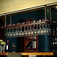 ワイングラスラック、ガラス棚ラック、ワイングラスホルダー、ワイングラスラック、シャンパングラスラック、ハンギングレッドワインカップホルダー、ガラスホルダーを上下に吊るし、クリエイティブホームバー、ワインラックハンギングガラスホルダー (色 : ブロンズ, サイズ さいず : 100 * 30cm)