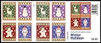 Winter Holidays Booklet Pane of 20 X 44 Cent Stamps Scott 4428b By USPS [並行輸入品]