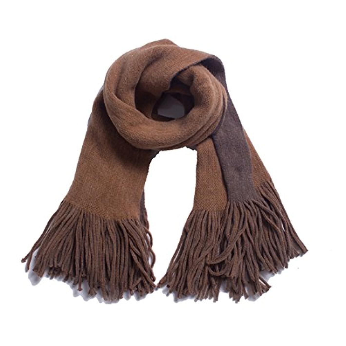 ポンプ敵意受粉者KTYX 厚みのある暖かい大きなショールを増やすために縁取られた両面ソリッドカラーのスカーフ模造ウール スカーフ